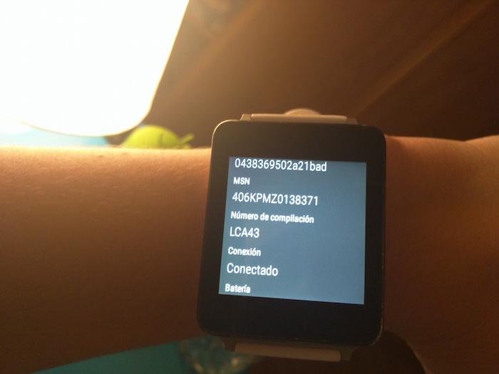 activar opciones desarrollo android wear