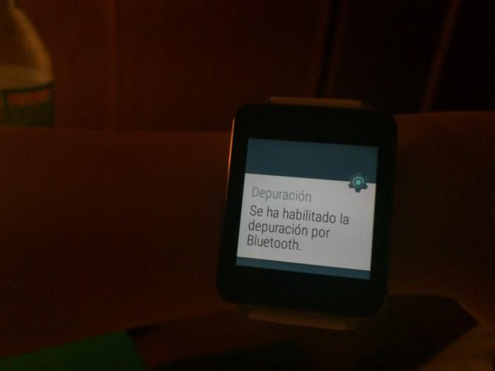 depuracion bluetooh android wear