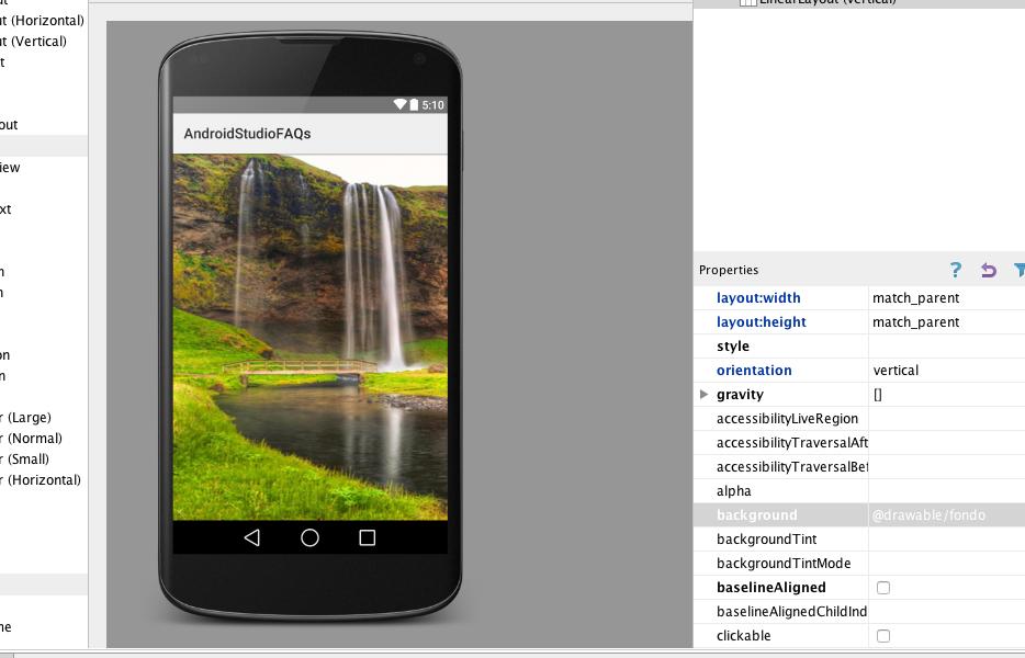 poner imagen fondo aplicacion android
