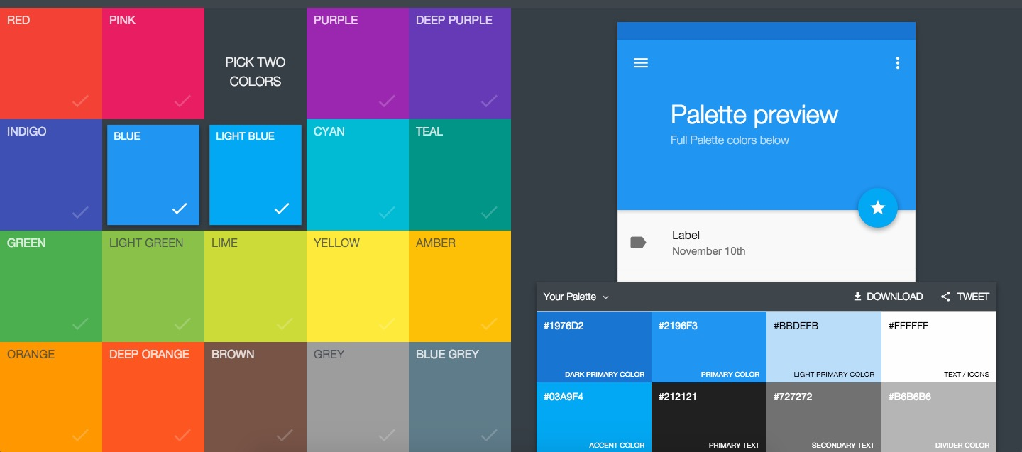 Colores Material Design Android