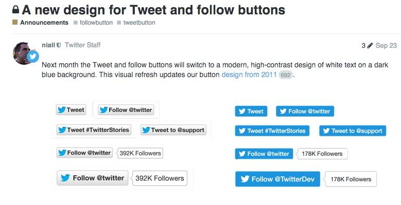 Por qué no aparece el contador de Twitter en mi página