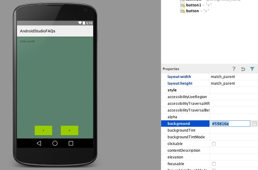 cambiar color aplicacion android studio