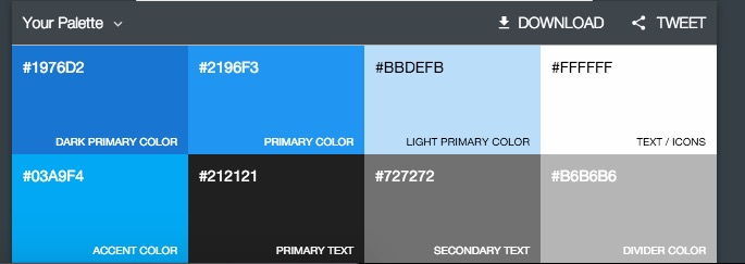 codigos colores material desing android