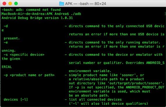 comandos adb android shell