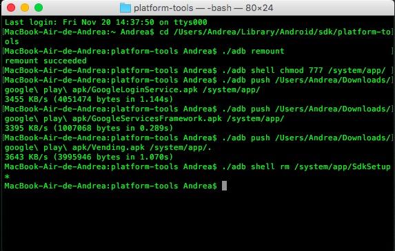 comandos instalar play store sdk