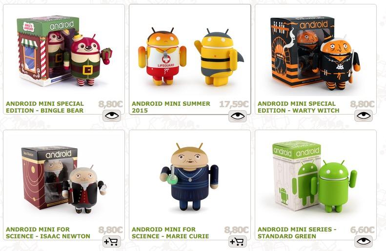 figuras de android donde comprar