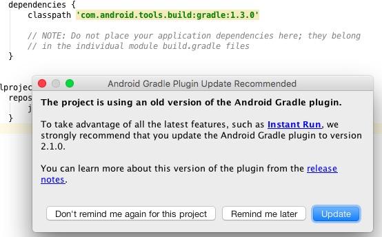 actualizar gradle android studio