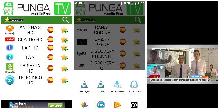 punga ver tv gratis espana