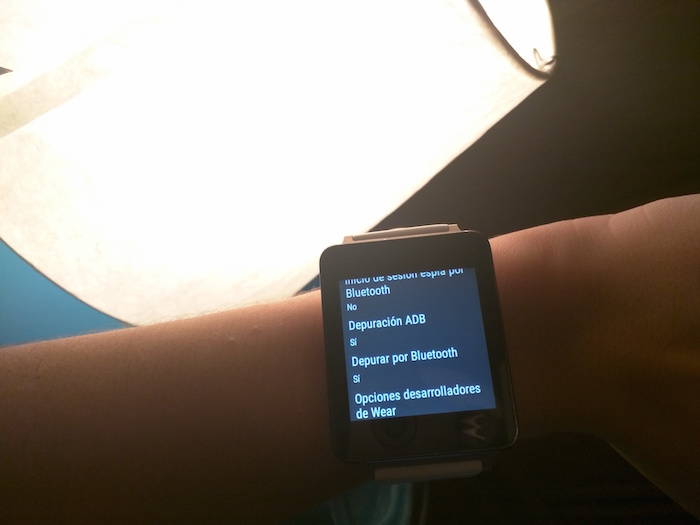 activar depuracion bluetooth android wear