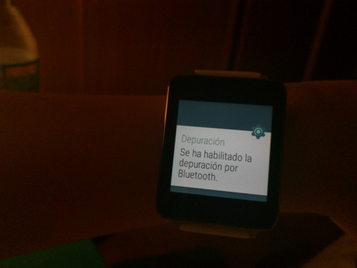 depuracion bluetooh android wear