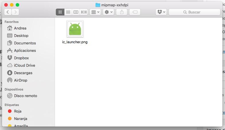cambiar icono por defecto aplicacion android