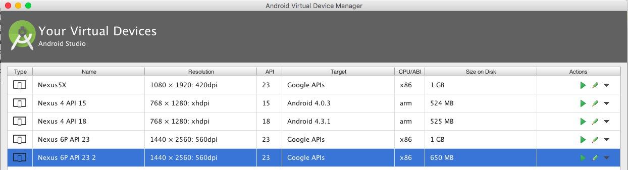 crear emulador android studio