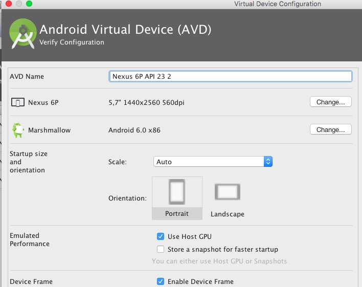 crear un emulador en Android Studio