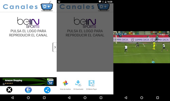ver bein sports gratis en android