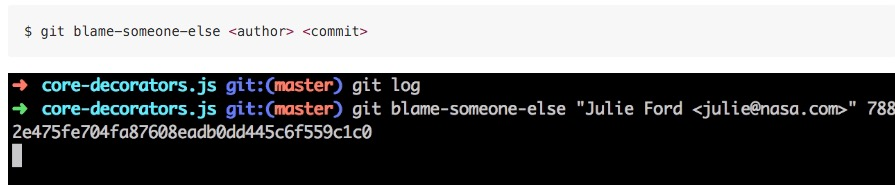 git blame someone else