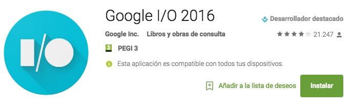 descargar aplicacion google i o 2016