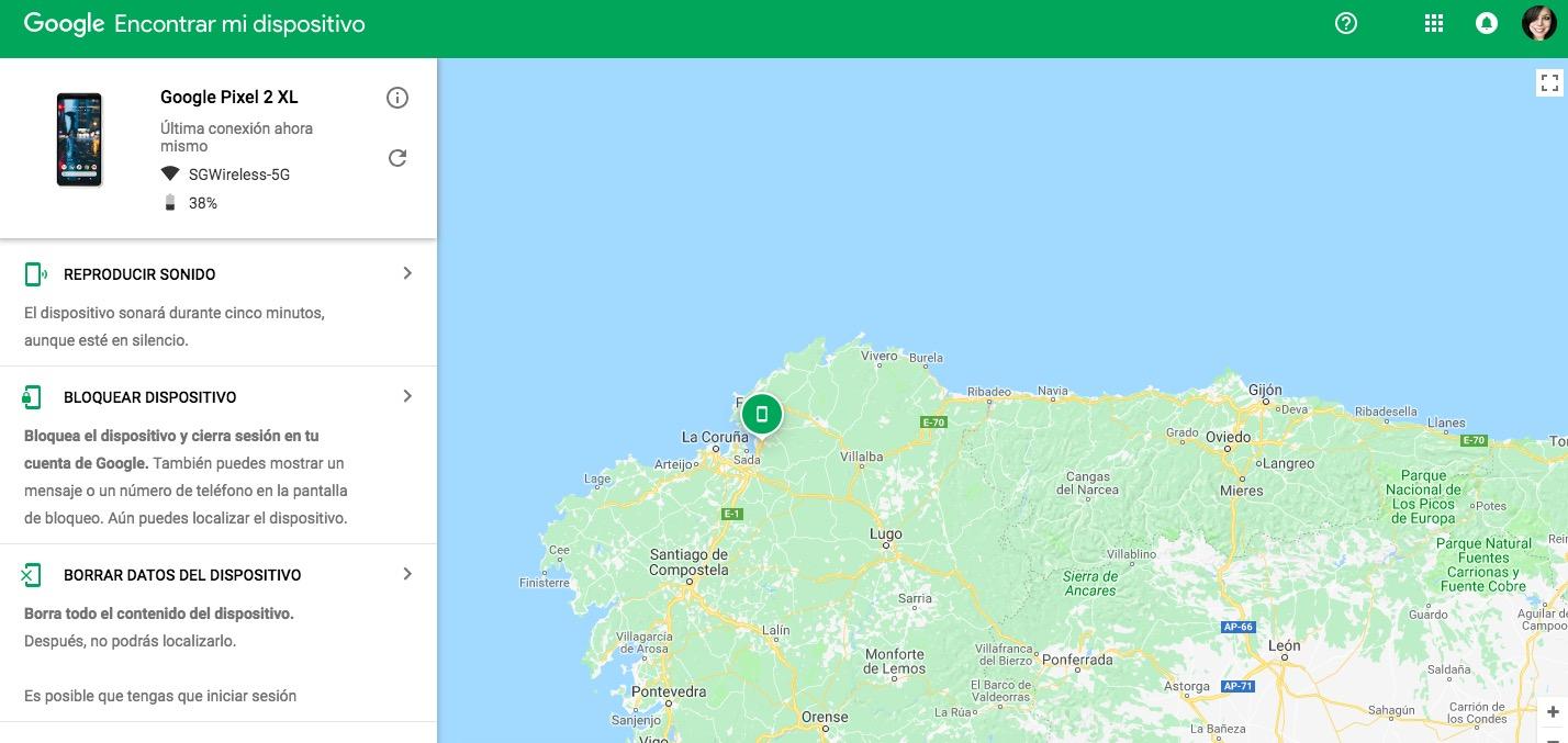 Localizar un móvil con Google